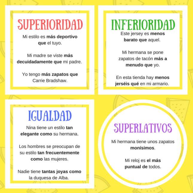 Copy of Comparativos y superlativos